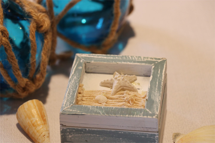 Sea Of Love Starfish Favor Trinket Box