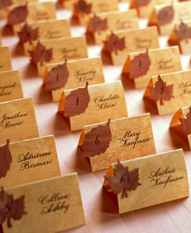 Fantastic Fall Wedding Ideas | HansonEllis.com Personalized Gifts