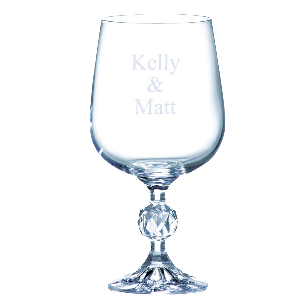 Personalized Crystal Wine Glass Goblet