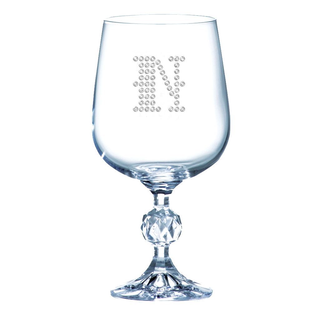 Crystal Wine Glass Goblet (Optional Personalized Crystal Rhinestones)