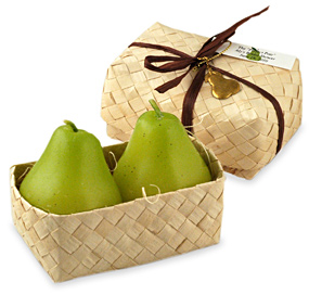 The Perfect Pear Candles in Hawaiian Favor Box*