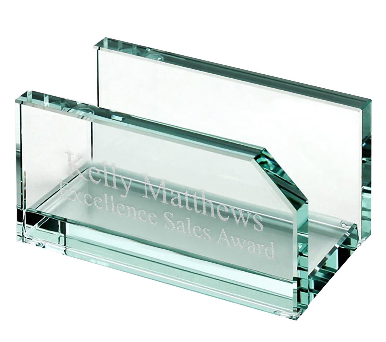 Executive Glass Business Card Holder