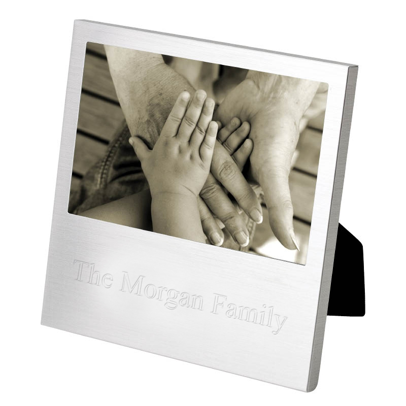 "4"" x 6"" Personalized Silver Wedding Picture Frame"