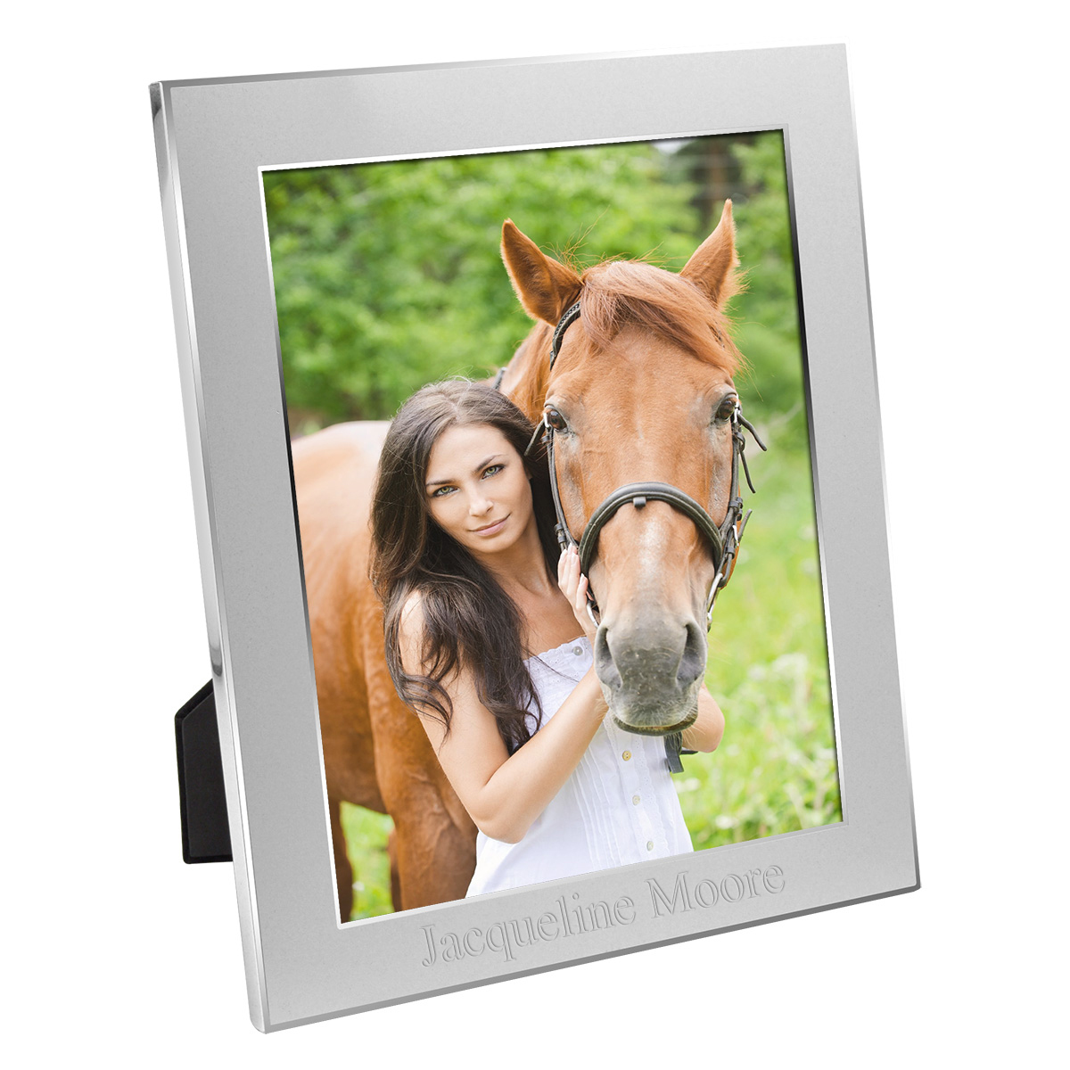 "8"" x 10"" Personalized Silver Picture Frame"