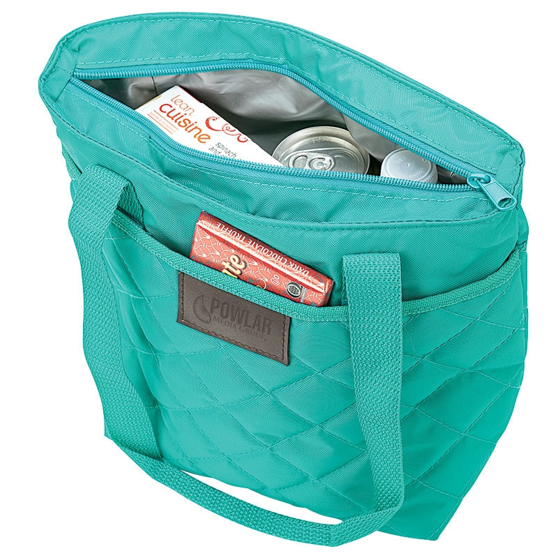 Chic Watertight 9-Can Cooler Quilted Lunch Bag*