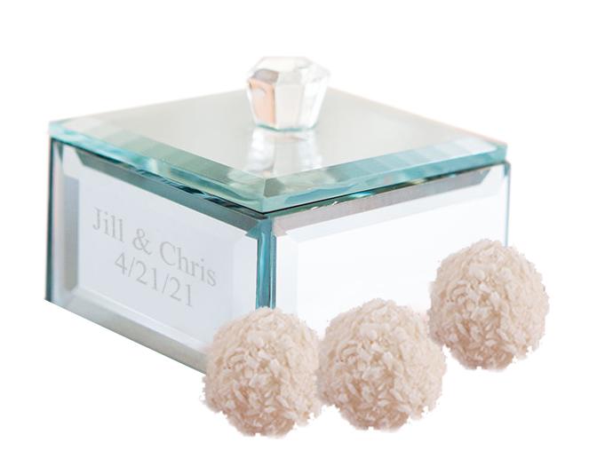 Personalized Beveled Mirror Trinket Box