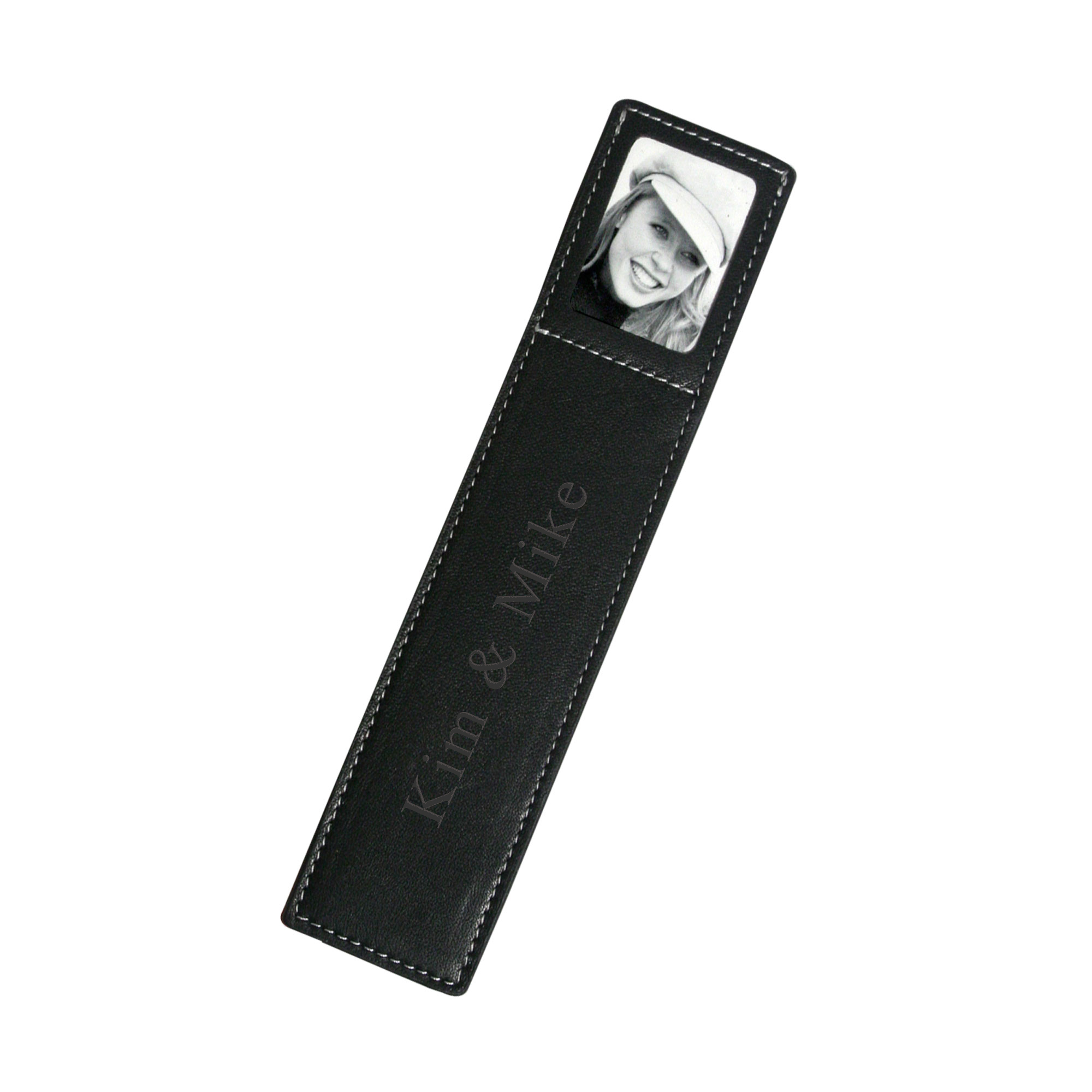 Black Leather Photo Bookmark