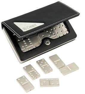 Mini Travel Silver Domino Game Box Set Hansonellis Com
