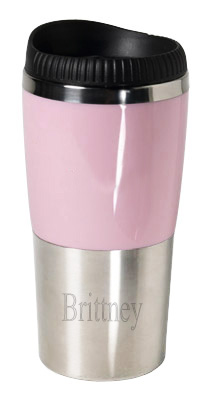 16 oz. Retro Pink Stainless Steel Tumbler
