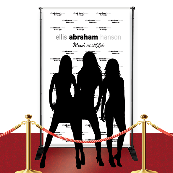 Custom Red Carpet Celebrity Banner