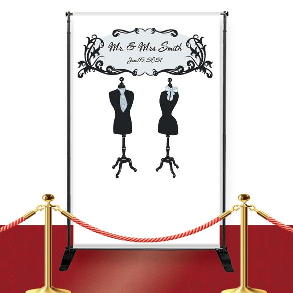 mr u0026 mrs custom red carpet wedding banner