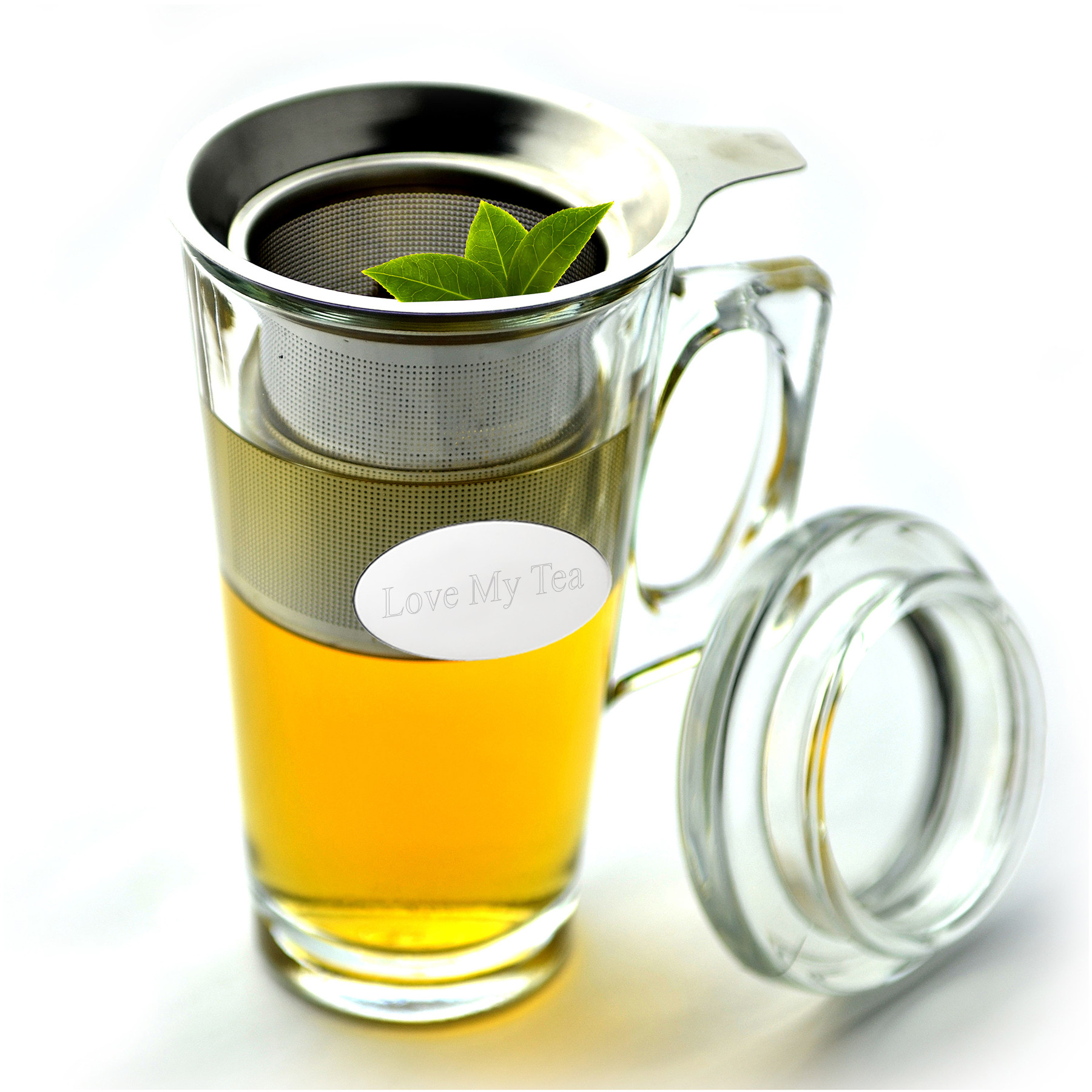 Gourmet Glass Mug Stainless Steel Tea Infuser Set