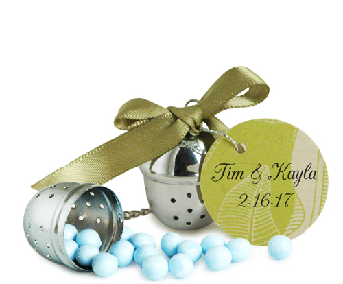 Silver Tea Ball Infuser Favor