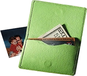 Magnetic Leather Business & Credit Card Holder*