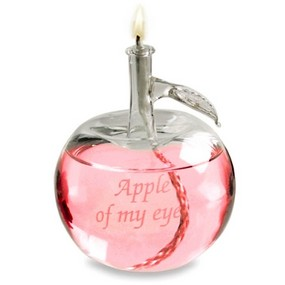 Apple Of My Eye Glass Oil Lamp*