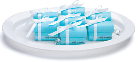 Aqua Blue Treasure Chest Ribbon Box