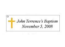 Personalized Baptism Favor Tags (60 precut pcs.)