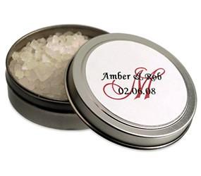 Fragrant Bath Salts Favor Tin