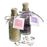 Fragrant Bath Crystals in Mini Glass Bottle
