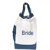Bridal Drawstring Workout Tote Bag