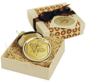 Bee Merry Lotion Bar in Designer Gift Box