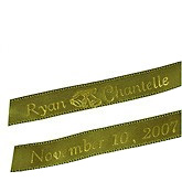 Personalized Wedding Bell Ribbons