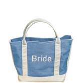 Bridal Blue Canvas Tote Bag