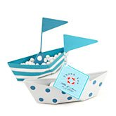 Metal Sailboat Favor