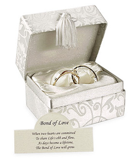 Interlocking Glass Wedding Bands With Poem*