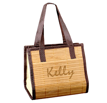 Mini Bridal Bamboo Tote Bag
