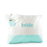 I Do Embroidered Bride Cosmetic Bag