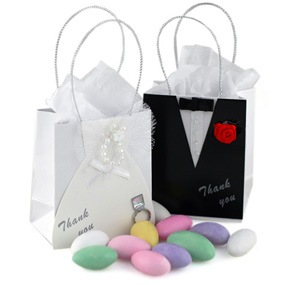 Wedding Favor Bags Under USD1 : Mini Bride and Groom Wedding Favor Bag USD1.97