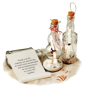 Mini Moroccan Message In A Bottle Beach Theme Favor