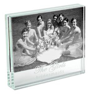 Bridesmaid Glass Photo Frame*