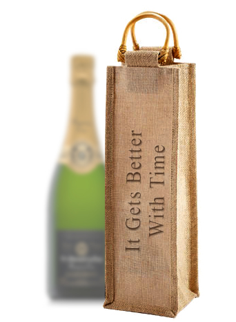 Personalized Jute Wine Bag Carrier