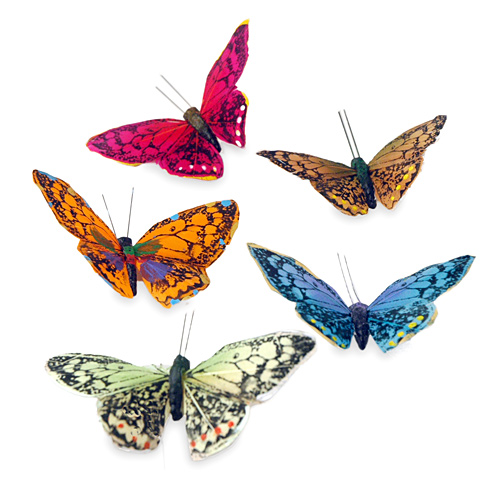 Handmade Rainbow Garden Magnetic Butterflies (Set of 10)