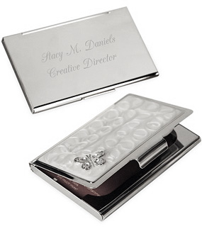 Personalized butterfly business card case hansonellis personalized butterfly business card case colourmoves Images