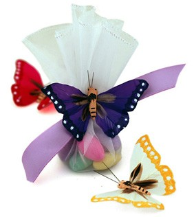 Monarch Butterfly Candy Wedding Tulle Favor