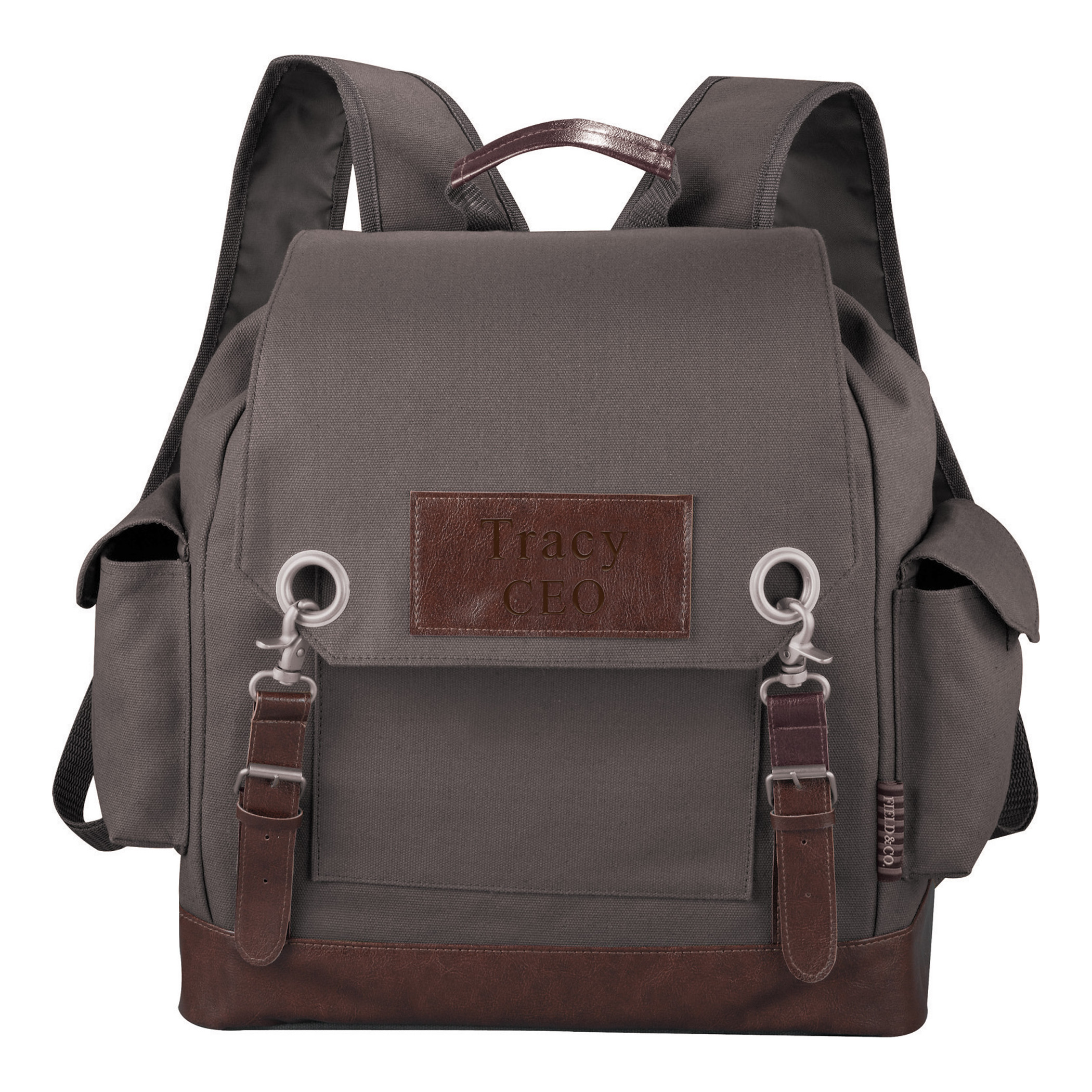 Field & Co. Classic Canvas Side Pockets Vintage Backpack