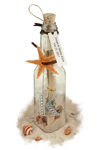 Celebrity Starfish Message in a Bottle Optional Rhinestone