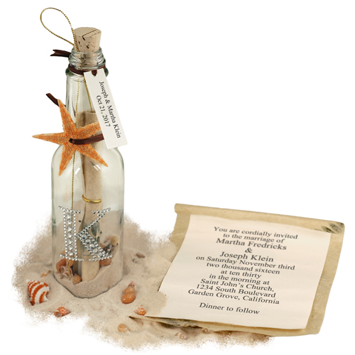 Celebrity Starfish Message in a Bottle (Optional Rhinestone Monogram)