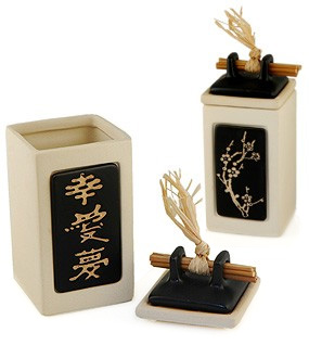 Cherry Blossom Zen Message in a Pot