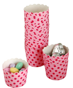 Chic Polka Dot Cupcake Baking Cups (Set of 25)