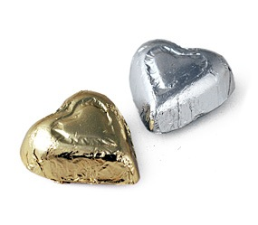 Foiled Chocolate Hearts (1 pound)