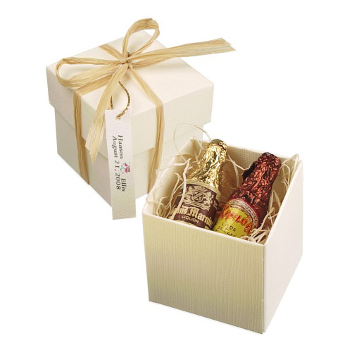 Celebration Liquor Filled Chocolate Bottles Favor Box