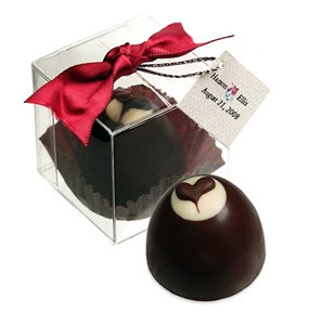 Chocolate Creme Heart Truffle Bon Bon Box*