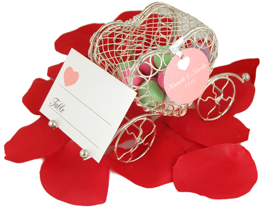 Cinderella Heart Candy Carriage Placecard Holder Favor