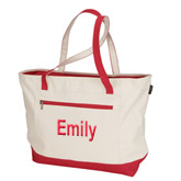 Modern Zipper Carry Tote Bag
