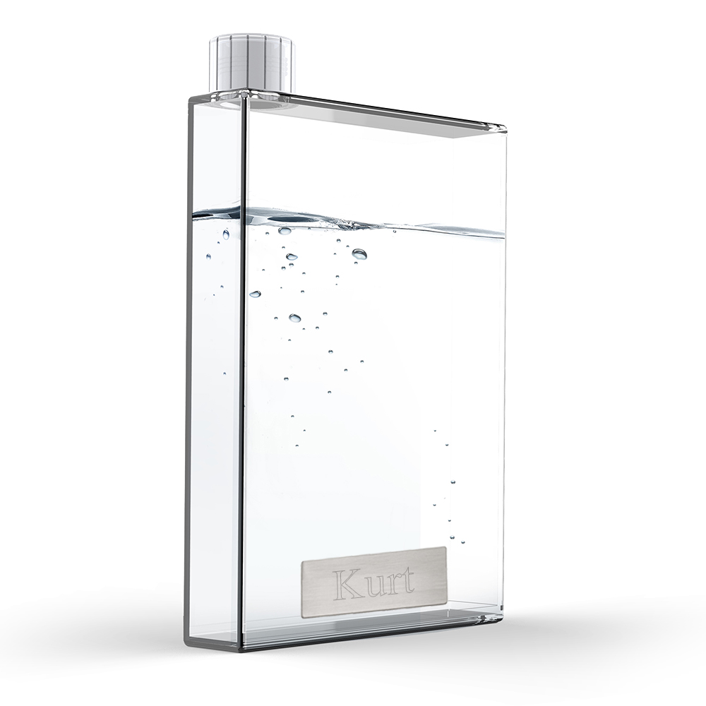 Personalization 16oz Clear Stylish Office Flask*