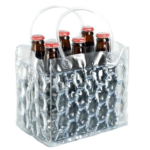 Clear Six Pack Bottle Ice Cooler Carrier Hansonellis Com